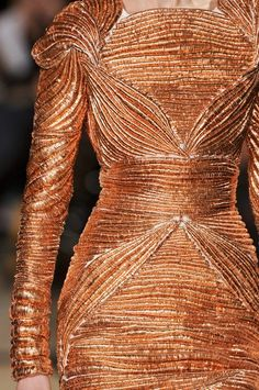 copper beaded dress | stephanie rolland