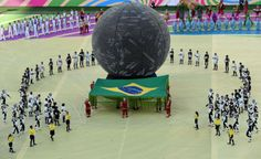 World Cup Soccer 2014 Brazil Performers take part in the opening ceremony