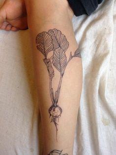 Better picture of radish tattoo - Tatoo - Henna Tattoos, Body Art Tattoos, Tattoo Drawings, New Tattoos, Tatoos, Biker Tattoos, Quote Tattoos, Tribal Tattoos, Homemade Tattoo Ink