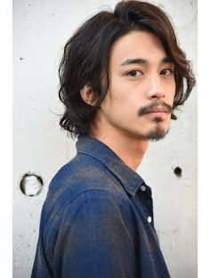Japanese Men Hairstyle, Asian Men Hairstyle, My Hairstyle, Cool Hairstyles, Asian Men Long Hair, Asian Hair, Neck Length Hair, Medium Hair Styles, Curly Hair Styles