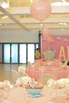 Table Centerpiece | Christening Party for Ally (Noah's Ark Theme) | Styling by Something Pretty Manila