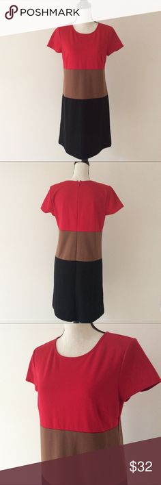 Ann Taylor LOFT Women's Black Red Brown Dress # In excellent preowned condition Ann Taylor Loft Dresses