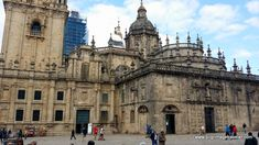 Plaza de la Quintana and the Puerta Santa to the right (St James sits atop the door), Cathedral of Santiago de Compostela, Spain.