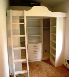 loft beds with closets underneath | Murphy Beds | Wall Beds | Custom Closets and Bedrooms | Bellingham ...