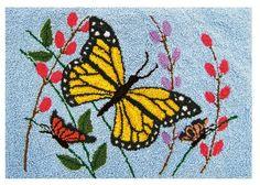 Punch needle technique - butterflies
