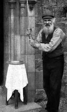 Church bell ringer, Pitlochry, Perthshire, Scotland