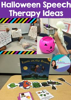 The Dabbling Speechie: Halloween Speech Therapy Ideas-My Spooky Week of Fun! Pinned by SOS Inc. Resources. Follow all our boards at pinterest.com/sostherapy/ for therapy resources.