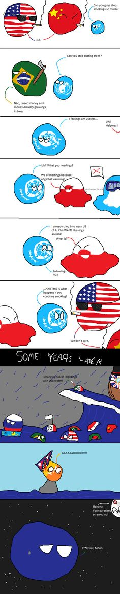 Countryball United Nations efforts against global warning!