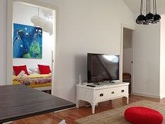 Beautiful HomeAway rental property in Lisbon, magnificent River view, contemporary and eclectic design, full of artworks.