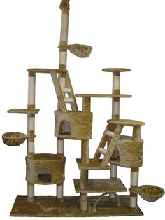 Go cat Club Cat Tree, 106-Inch, Beige -- Don't get left behind, see this great cat product : Cat Tree and Tower