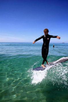 Matt Travis on a green beauty, sunshine and waves. UK, believe it or not.