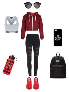 """gym"" by evelynazer on Polyvore featuring Yves Saint Laurent, Topshop, Marc by Marc Jacobs and Casetify"