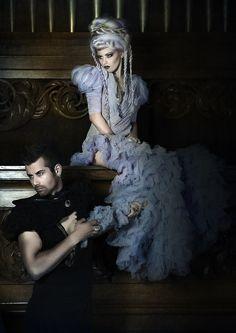 Steampunk victorien mariage robe robe gothique Fantasy Fashion gris Mauve. Hand dyed mariage robe - Chrisst Unique mode spécial prix ETSY par chrisst sur Etsy https://www.etsy.com/fr/listing/91476354/steampunk-victorien-mariage-robe-robe