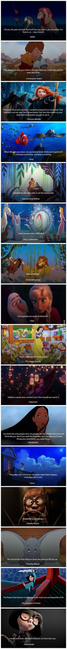 16 Times Disney Characters Gave You Amazing Life Advice Personal Developmental Quotes #Quote