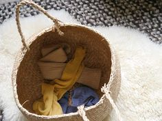 Basket of Clothes via A Home Paper