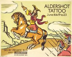 Aldershot Tattoo, by  Anna Katrina Zinkeisen, 1934   Published by London Transport, 1934