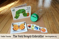 Teaching Mama: The Very Hungry Caterpillar- Toddler Activity. Pinned by SOS Inc… Speech Therapy Activities, Literacy Activities, Infant Activities, Activities For Kids, Caterpillar Book, Very Hungry Caterpillar, Toddler Fun, Toddler Preschool, Preschool Books