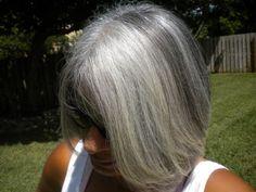 Beautiful Gray Hair in the sun