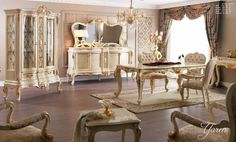 Prestij Lüks Klasik Yemek Odası Takımı.  #YemekOdası #DiningRoom #Decoration #Ev #Dekorasyon #Moda #Mobilya #Furniture