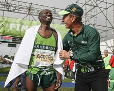 Nedbank Running Club team mates Collen Makaza finished in 4th and Warinyani Lebopo in 6th position.  OMTOM Two Oceans Marathon 2013