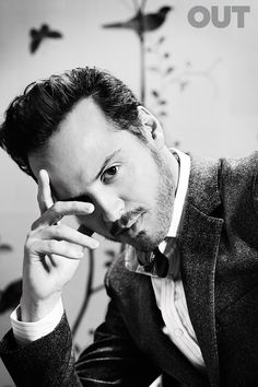Andrew Scott Out Magazine  I love that so many of today's stars are channeling old school glamour - very Clark Gable and classy.