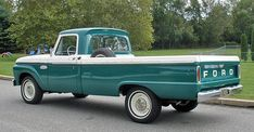 white and green classic truck - Google Search