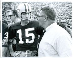 Vince Lombardi and Bart Starr