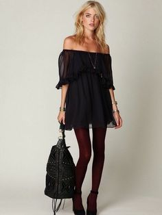 Auth. Free people babydoll off shoulder dress
