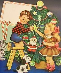 christmas cards images retro - Google Search
