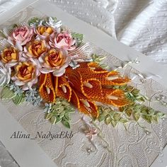 Slikarstvo paneli obrazac nabran porub ruže buket Papir Papir trake kuglice Fotografija 11