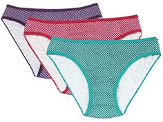 Women Clothing - Romano Womens Cotton Bikini Panties Pack of 3 -- Check out this great product.