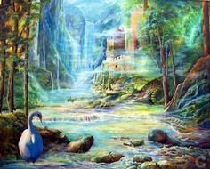 free fantasy red swan images - Google Search