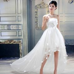 Sweet Jia Yi Pavilion 2014 New Before And After Chest-Princess Short Wedding Dress - DinoDirect.com