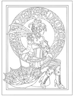 Steampunk fashions adult coloring book? Yes please!                                                                                                                                                                                 Mehr
