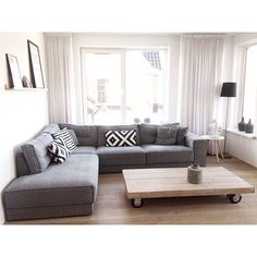 ikea living room sofa - Home and Textiles Home Living Room, Apartment Furniture, Living Room Furniture, Ikea Living Room, Apartment Living Room, Trendy Living Rooms, Apartment Decor, Living Room Grey, Cottage Style Living Room