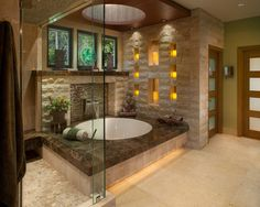 Zen Paradise - who wouldn't want to soak in this #bathroom?!