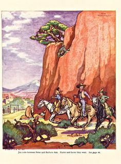 1936 print from The Book of Cowboys by Holling C. Holling.
