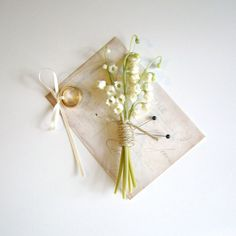 lily of the valley wedding boutonniere | 28 Best Rustic Wedding Boutonniere Ideas