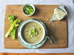 Celery Root-Apple Soup with Gorgonzola