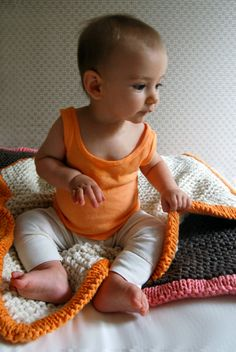 Perfect pattern for beautiful squishy baby blankets - free from thepurlbee.com