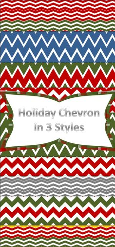 Holiday Themed Chevron digital papers in 3 different styles and multiple color combinations. Click through to see all of the colors included in this pack. $