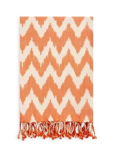 Handmade IKAT Cotton Throw Blanket by a  R Cashmere at Gilt