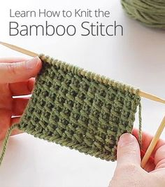Learn how to knit the bamboo stitch: a beautiful and versatile pattern that can . Learn how to knit the bamboo stitch: a beautiful and versatile pattern that can be worked into various projects, such as. Knitting Stiches, Loom Knitting, Crochet Stitches, Free Knitting, Learn How To Knit, Knit Or Crochet, Crochet Socks, Crochet Baby, Knit Patterns