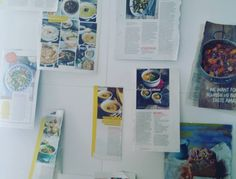 My wall of recipe inspiration for the week or so - just need to add some fish Christmas bakes... Happy Sunday! #cooking