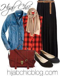 Hijab Style: J Crew western shirt