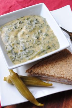 Cheesy Spinach Soup  sohowsittaste.com