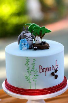 Totoro birthday cake for my son's 6th Birthday!!