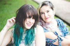 Melina Souza - Serendipity <3 Luiza Trigo <3  http://melinasouza.com/2015/02/25/plum-lovely-lady-violet-snowy-head/  #Tattoo  #hair  #Unicorns