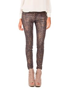 Snake Skin Jeans - 2020AVE - $36.00 - they look just like the way-too-expensive J-Brand jeans I almost bought last November!