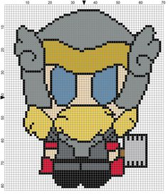 Thor Weenie (1) Cross Stitch Pattern - Professional Pattern Designer and Artist Collaboration
